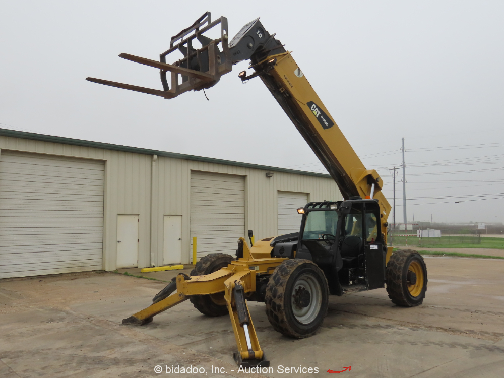 2013 Caterpillar TL1055C 10,000LB Telescopic Reach Fork Lift Telehandler bidadoo