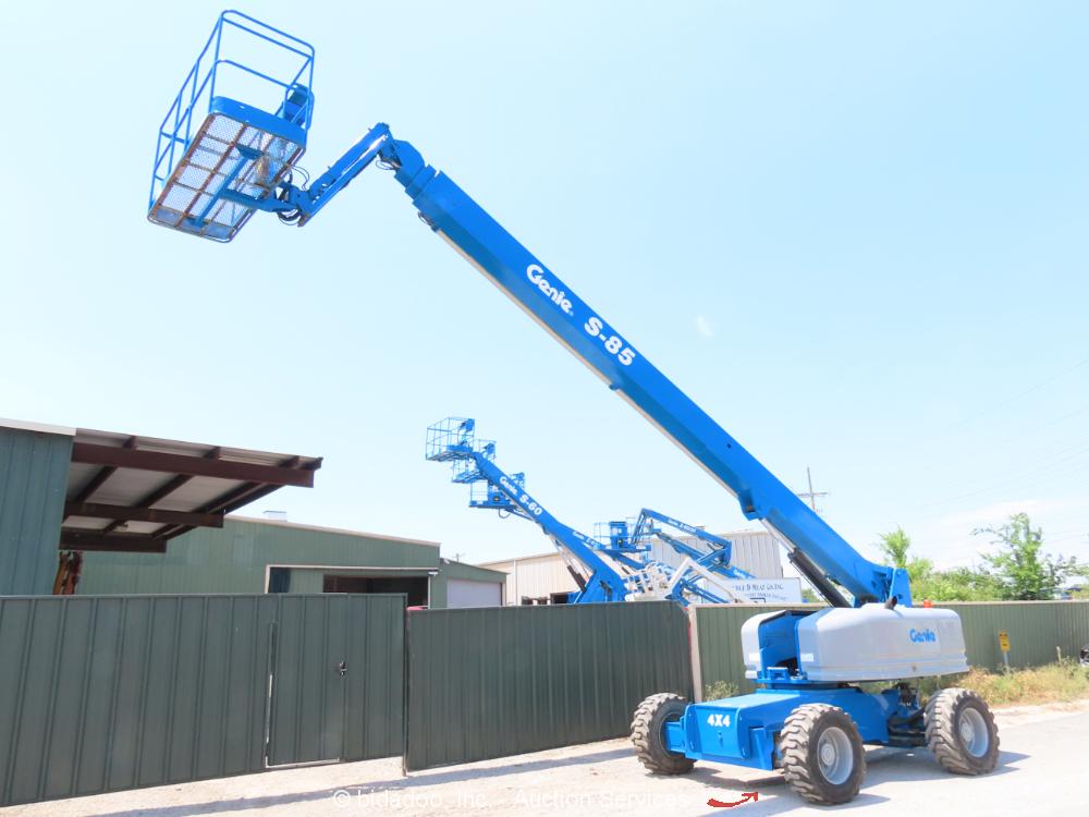 2006 Genie S-85 85' 4WD Diesel Telescopic Boom Lift Man Aerial Platform bidadoo