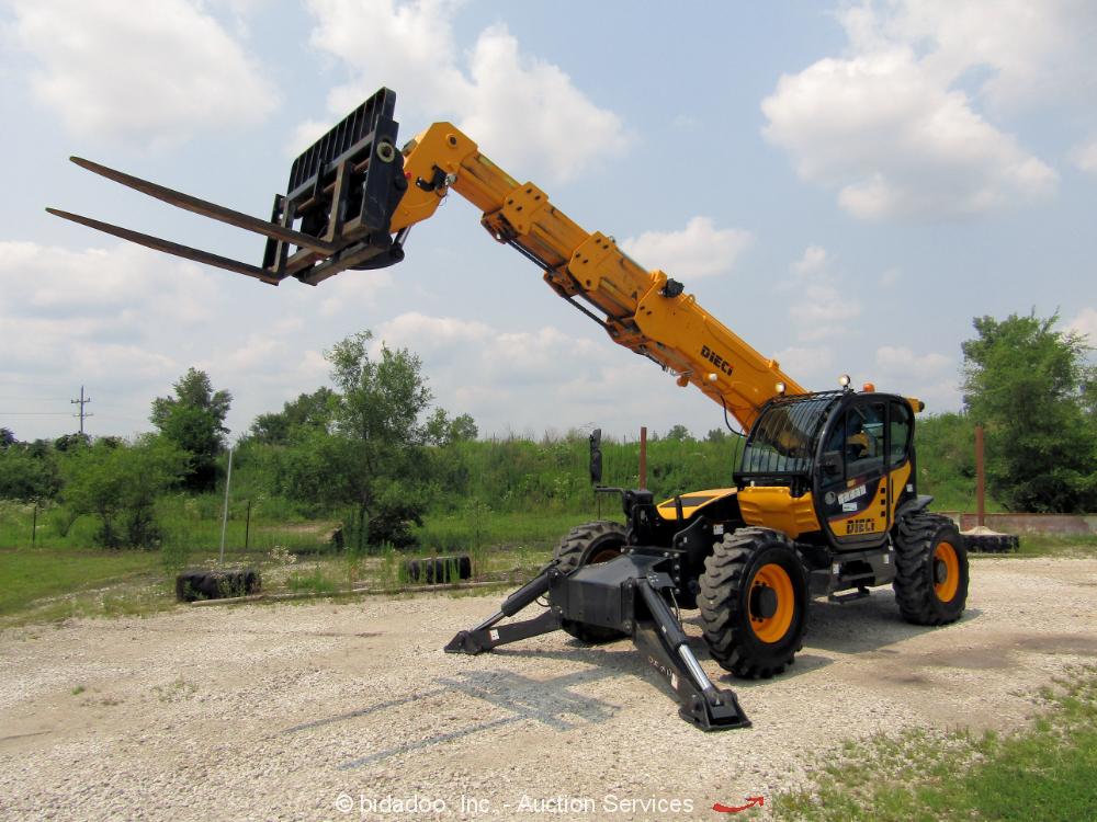 2018 Dieci 12.56-C 56' 12,000 lbs Telescopic Reach Forklift Telehandler bidadoo