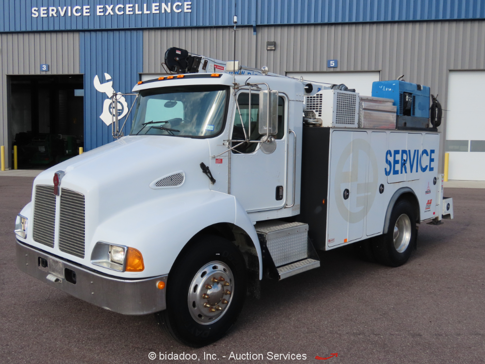 2003 Kenworth T300 Mechanics Truck PTO Crane Air Welder Generator Diesel bidadoo
