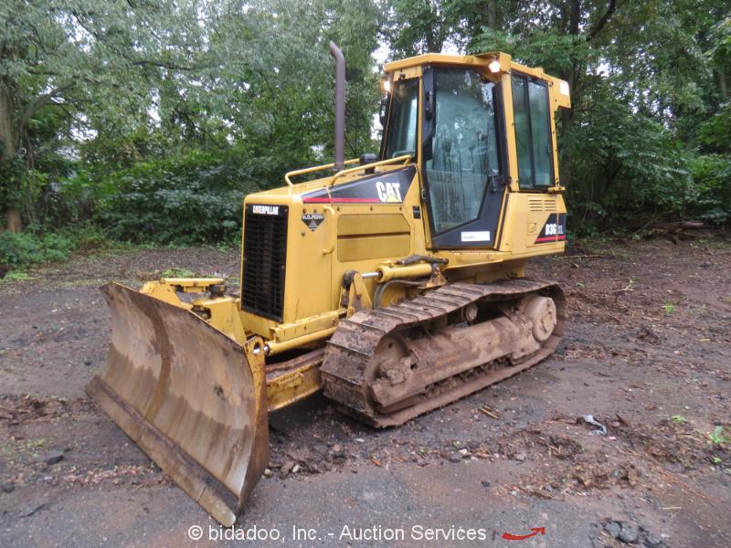 2003 Caterpillar D3G XL Crawler Dozer Tractor A/C Cab 6-Way Blade bidadoo