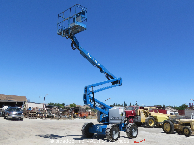 2007 Genie Z45/25 45' 4WD D/F Articulating Boom Lift Man Reconditioned 2014