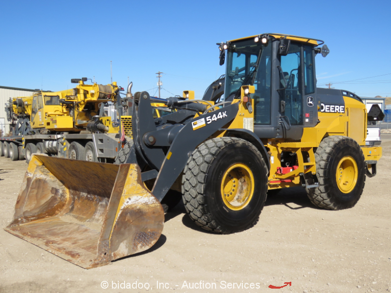 2016 John Deere 544K Articulated Wheel Loader Cab Tractor Hyd Q/C Ride Control