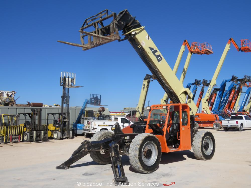 2014 JLG G10-55A 55' 10,000LB Telescopic Reach Forklift Telehandler bidadoo