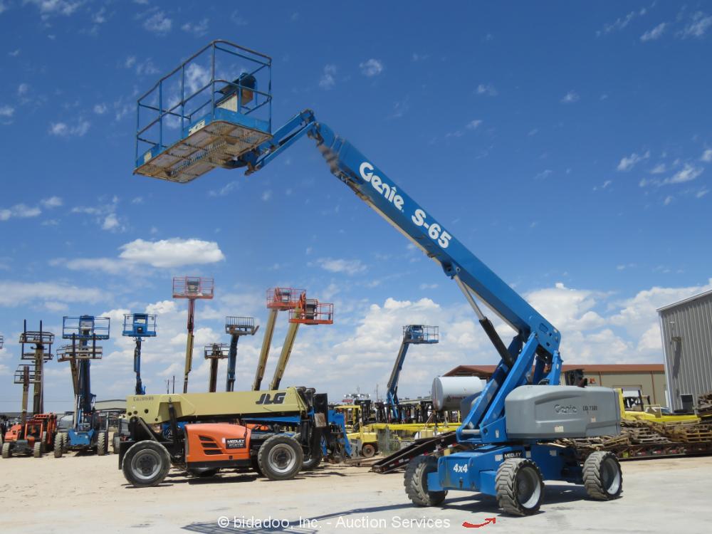 2014 Genie S-65 65' 4WD Diesel Telescopic Boom Lift Man Aerial Platform bidadoo