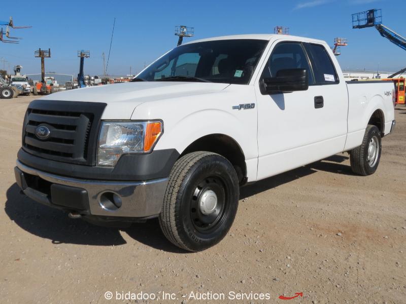 2012 Ford F150 XL 4x4 Extended Cab Pickup Truck 5.0L V8 A/T Cold A/C 4WD bidadoo