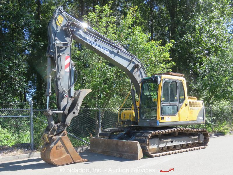 2006 Volvo EC140BLC Hydraulic Excavator Heated Cab Thumb A/C Blade Aux Hyd Q/C