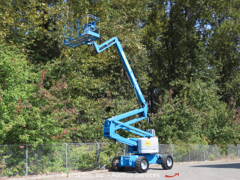 2006 Genie Z60/34 4WD 60' Diesel  Articulating Boom Lift Manlift 2014 REFURB