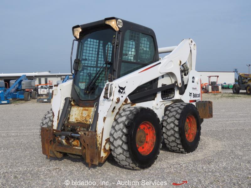 Skid Steer Drivetrain : Bobcat s skid steer wheel loader a c cab aux hyd