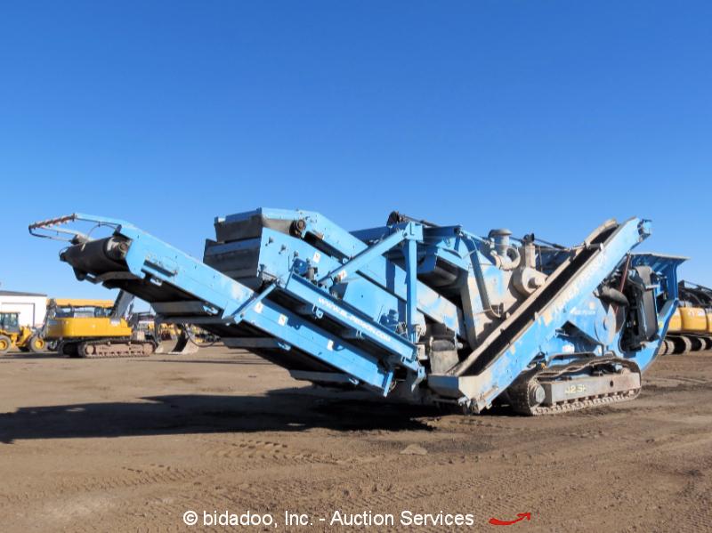 Terex Pegson 4242SR Impact Crusher Crawler Track Conveyor Hopper Plant C9 Diesel