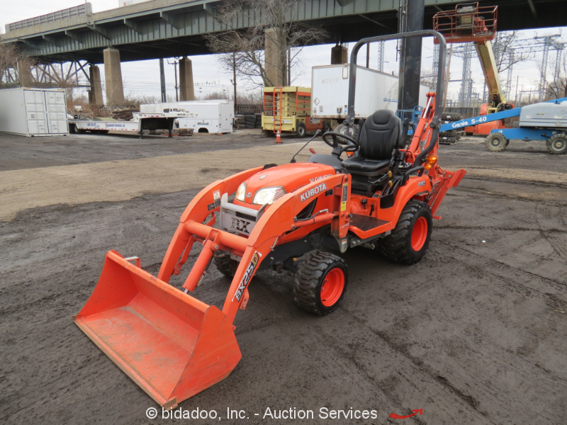 Kubota Tractor Backhoe Buckets : Kubota bx dlb wd backhoe wheel loader diesel