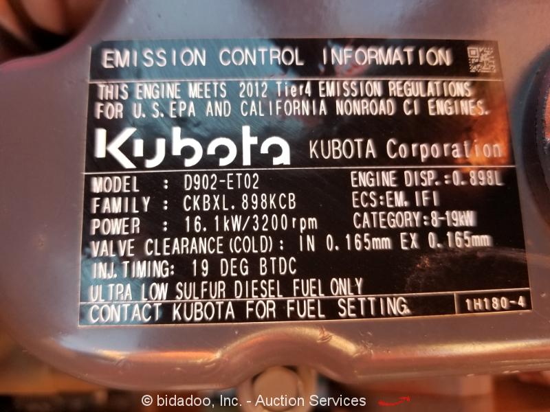 2012 Kubota BX25D Hydraulic 4WD Backhoe Wheel Loader Tractor