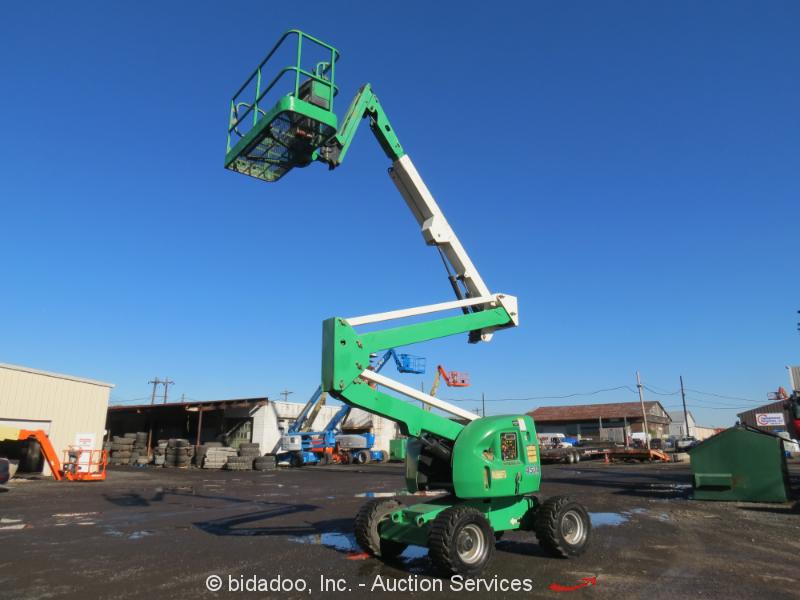2008 JLG 450AJ 45' 4WD Diesel Articulating Boom Lift Aerial Manlift Jib bidadoo