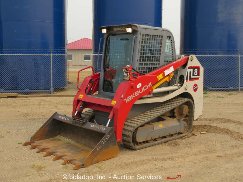 2014 Takeuchi TL8 High Flow Crawler Skid Steer Track Loader Aux Hyd bidadoo