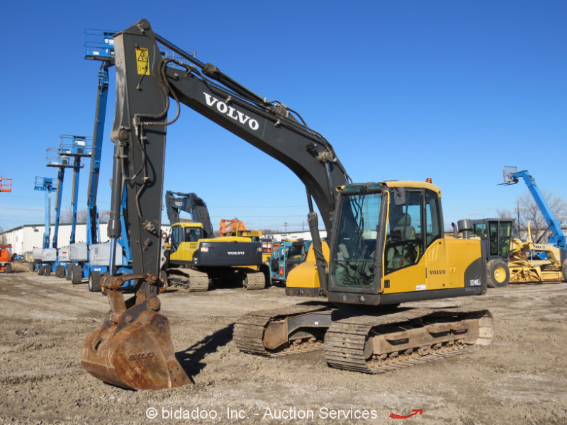 2011 Volvo EC140CL Hydraulic Excavator Aux Hyd A/C Cab Diesel bidadoo