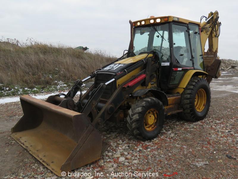 2006 Caterpillar 420D IT 4x4 Backhoe Wheel Loader Tractor Heated Cab bidadoo