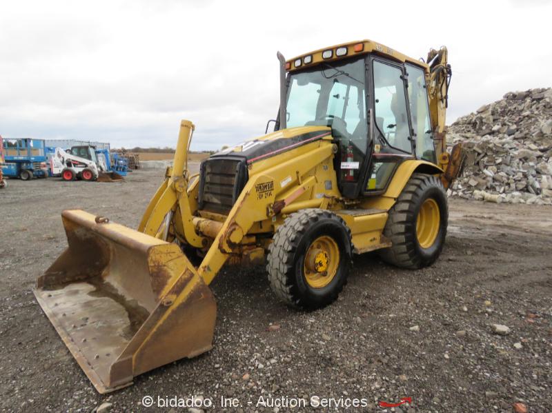2001 Caterpillar 420D 4x4 Backhoe Wheel Loader Tractor Cab Diesel bidadoo