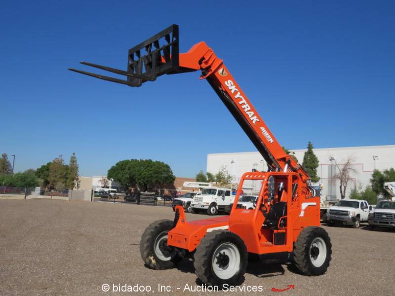 2006 Skytrak 6036 36' 6k Telescopic Reach Forklift Telehandler Aux Hyd bidadoo