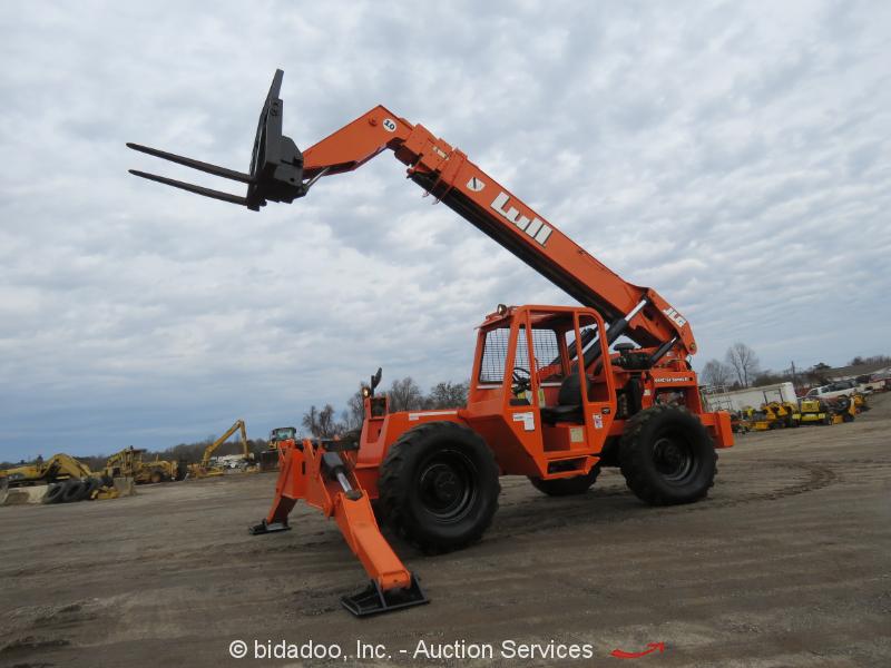 2007 Lull 1044C-54 54' 10,000LB Telescopic Reach Forklift 10K Telehandler Aux