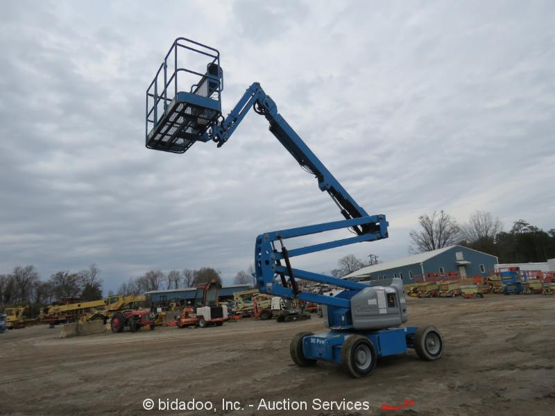 2012 Genie Z45/25J 45' Electric Articulating Boom Lift Man Aerial Jib Platform