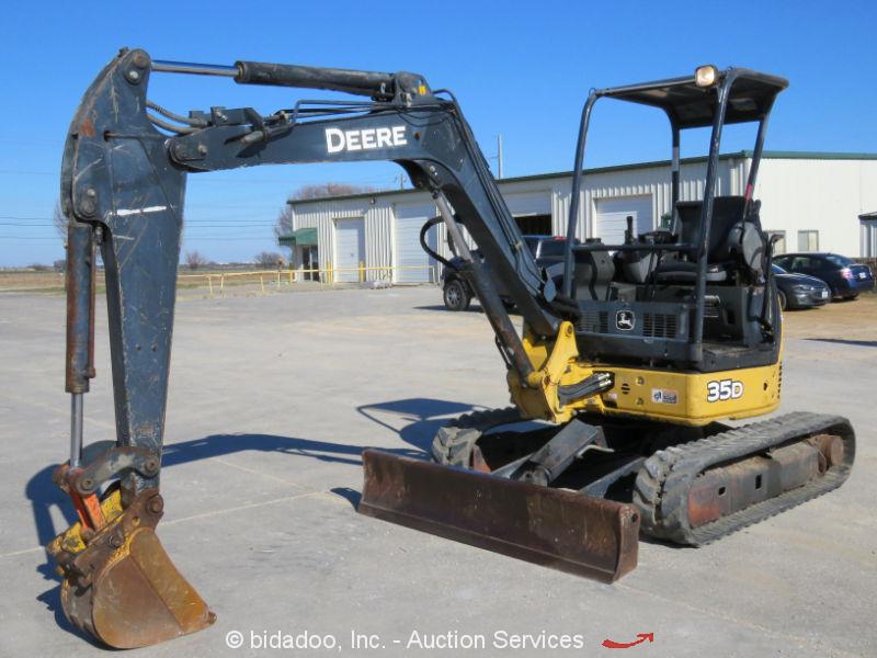 2006 John Deere 35D Mini Excavator Hydraulic Rubber Tracks Aux Hyd Blade 2-Spd