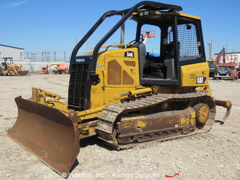 2008 Caterpillar D4K Crawler  6-Way Blade Dozer Diesel Tractor Ripper bidadoo