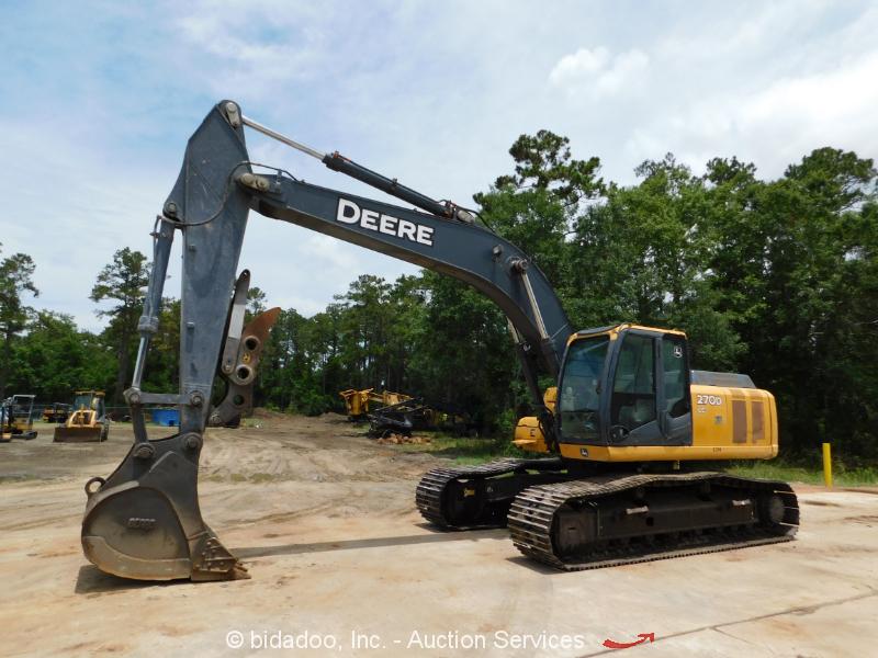 2011 John Deere 270D LC Excavator Thumb A/C Cab Hyd Q/C Tractor bidadoo