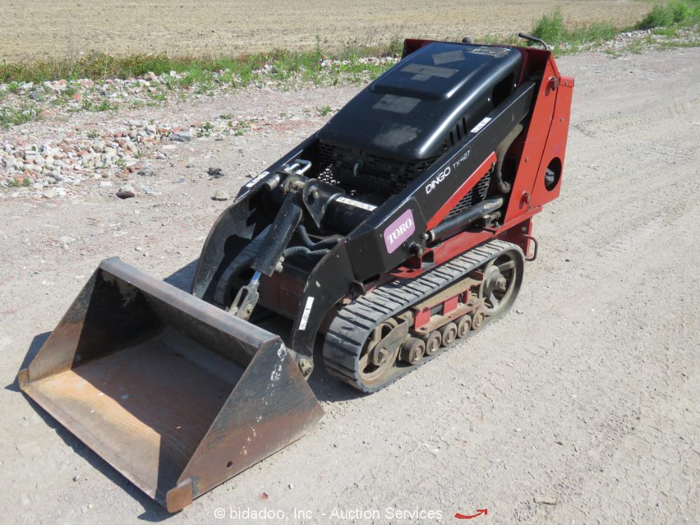 2014 Toro Dingo TX427 Compact Mini Skid Steer Crawler Loader Aux Hyd Q/C bidadoo