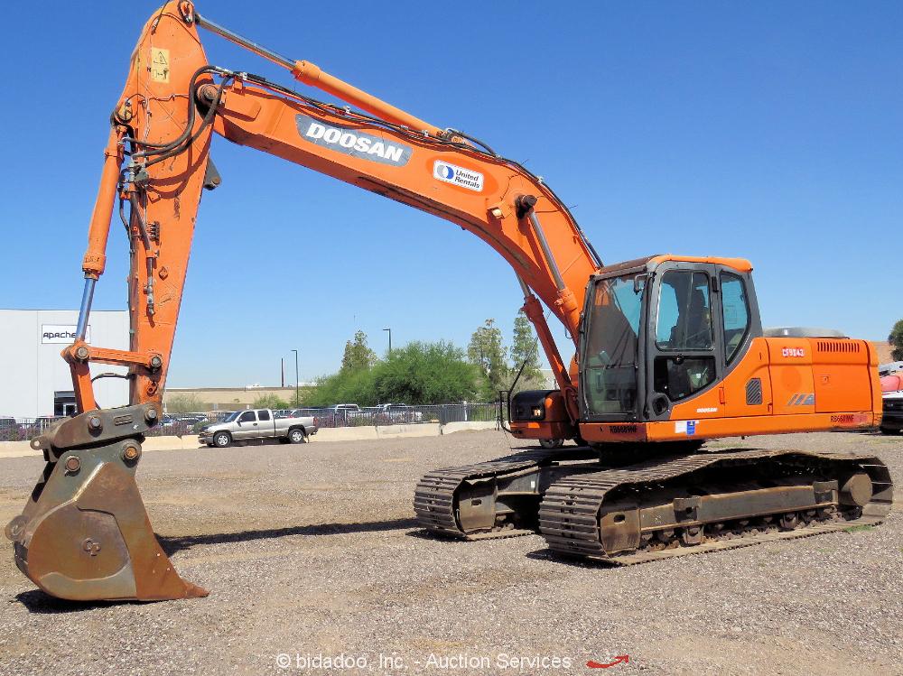 2012 Doosan DX225LC Hydraulic Excavator Track Hoe Tractor Cab Aux Hyd bidadoo
