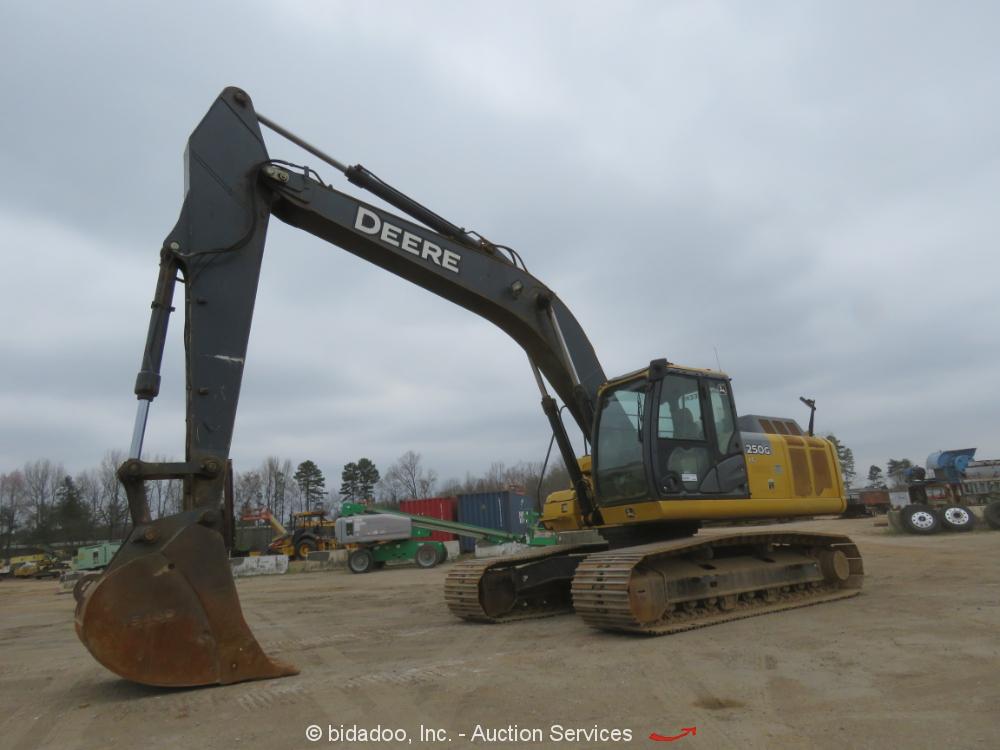 2013 John Deere 250G LC Hydraulic Excavator A/C Cab Diesel Trackhoe bidadoo