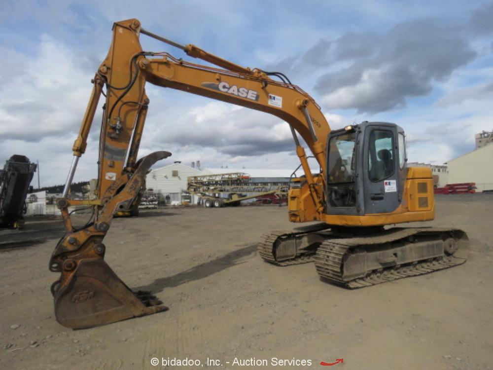 2006 Case CX135SR Excavator Hydraulic Thumb A/C Cab Q/C Isuzu Aux Hyd bidadoo