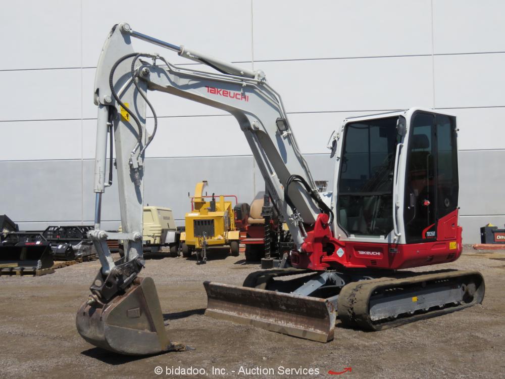 2016 Takeuchi TB260 Excavator A/C Cab Aux Hyd Q/C Blade bidadoo