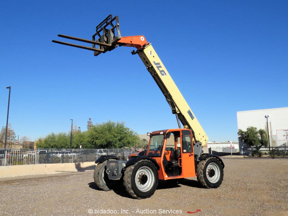 2012 JLG G9-43A 43' 9,000 lbs Telescopic Reach Forklift Cab Telehandler bidadoo