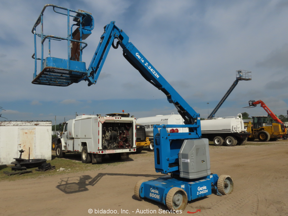 2010 Genie Z34/22N Electric Articulating Boom Lift Man Aerial Basket bidadoo