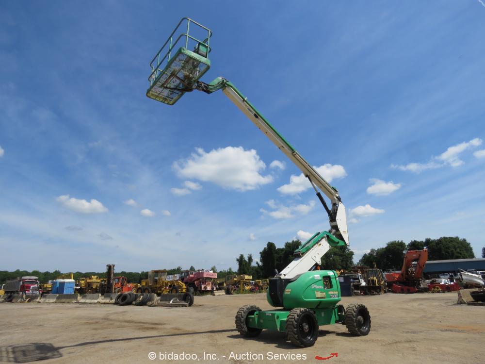 2013 JLG 600A 60' 4WD Diesel Articulating Boom Lift Man Aerial SkyPower bidadoo