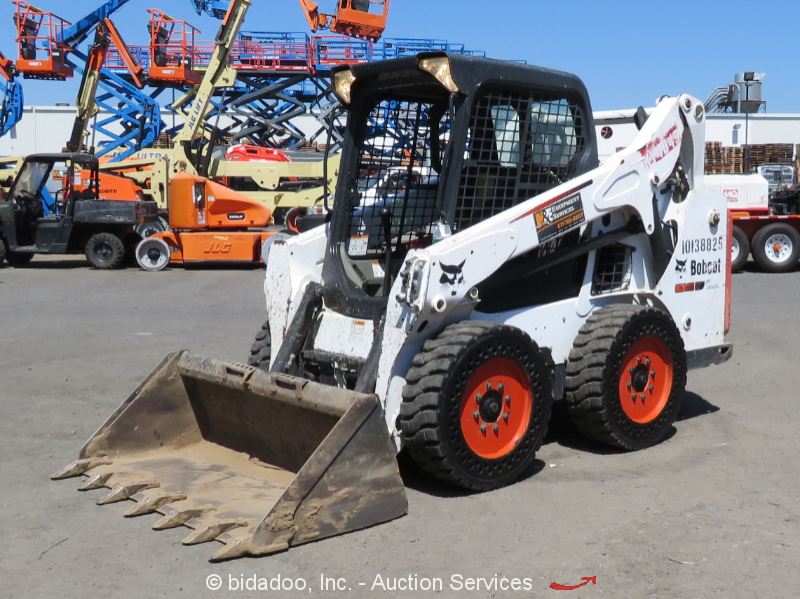 "2014 Bobcat S590 Skid Steer Wheel Loader Aux Hyd 60"" Bucket Tractor bidadoo"