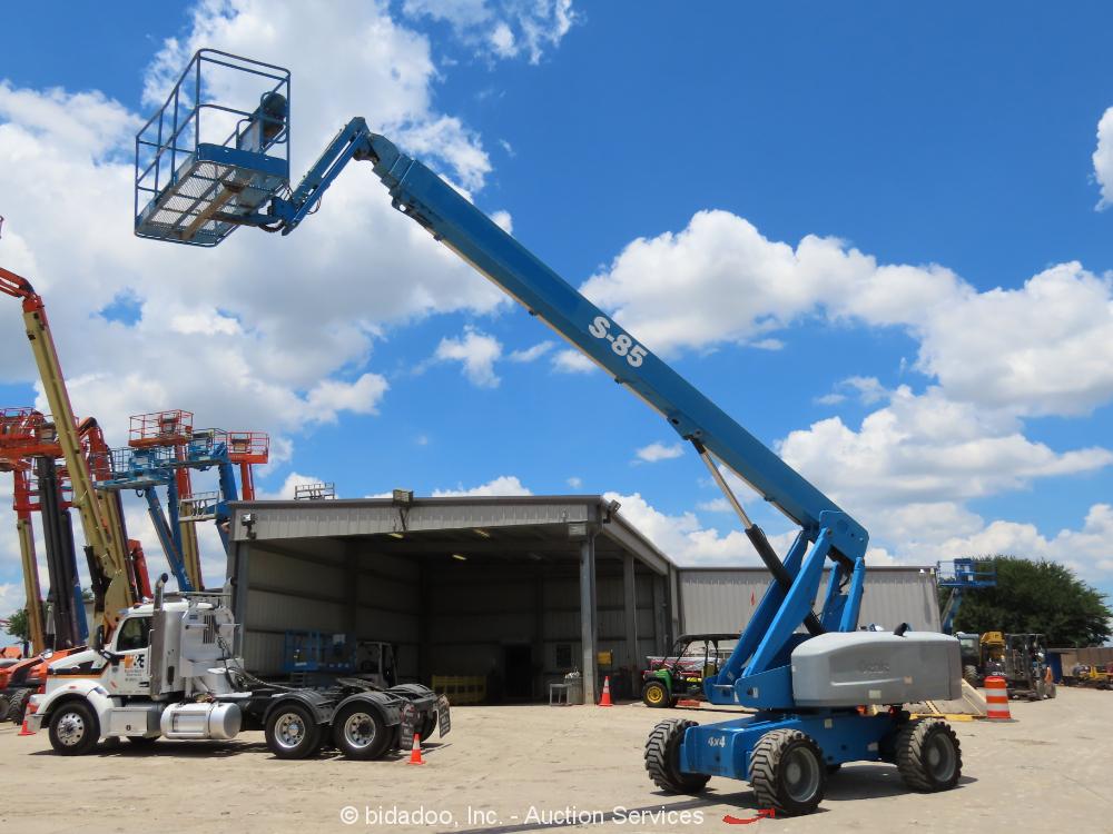 2012 Genie S-85 85' 4WD Diesel Telescopic Boom Lift Man Aerial Platform bidadoo