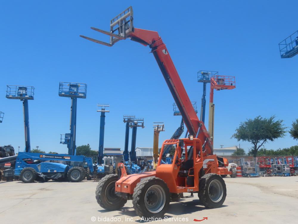2013 Skytrak 6042 6,000LB 42' Telescopic Reach Forklift Telehandler Aux bidadoo