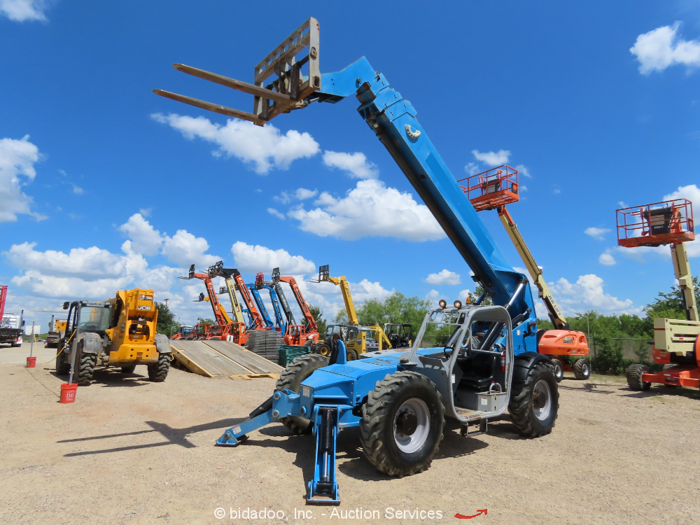 2014 Genie GTH1056 56' 10,000 lbs Telescopic Reach Forklift Telehandler bidadoo