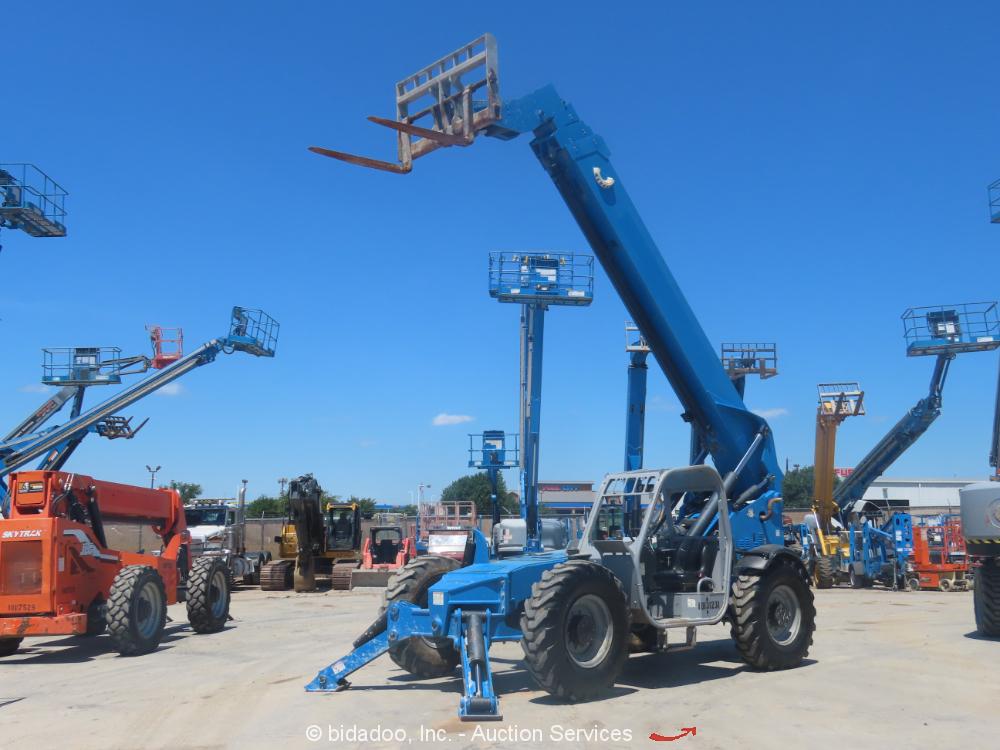 2014 Genie GTH1056 10K Telescopic 56' Reach Forklift Telehandler Deutz bidadoo