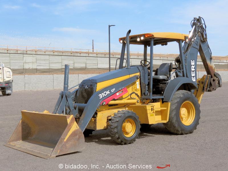 2013 Deere 310K 4WD Backhoe Loader Tractor E-Stick Aux Hyd Q/C Tractor bidadoo