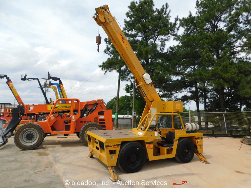2008 Broderson IC803G 9-Ton Carry Deck Crane 37' Boom Extension Dual Fuel