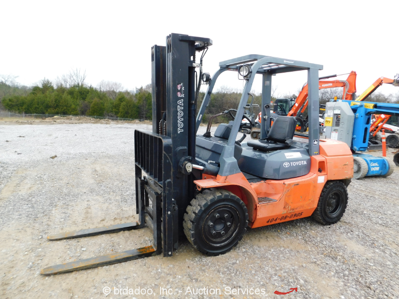 2011 Toyota 7FGU35 7,000 lbs Warehouse Industrial Forklift Lift Truck bidadoo