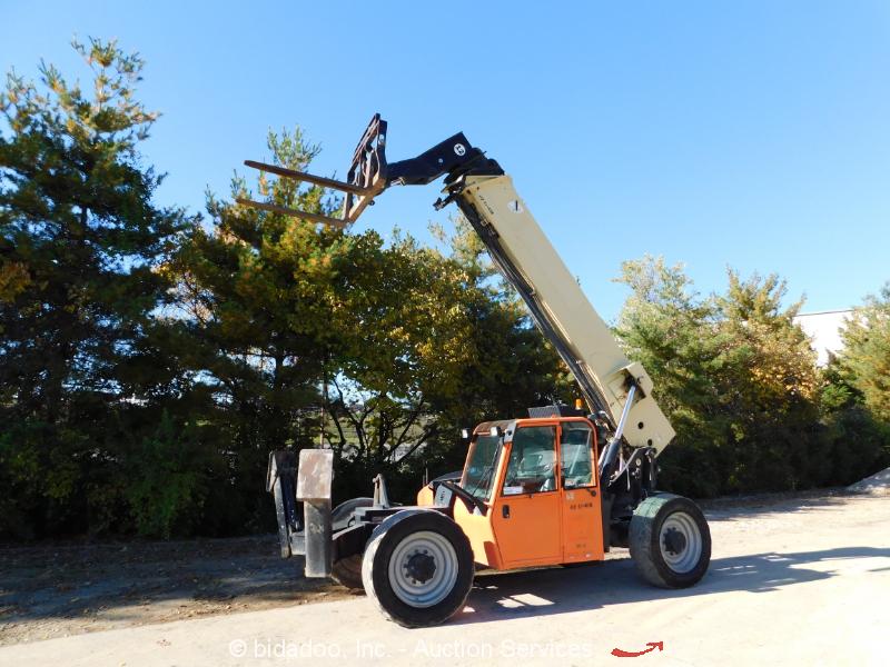 2012 JLG G12-55A 55' 12,000 lb Telescopic Reach Forklift A/C Cab Telehandler 12k