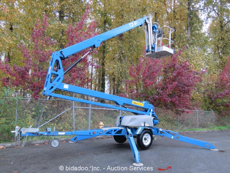 2013 Genie TZ-50 Hybird w/ Drive Electric 50' Towable Boom Lift Aerial Platform