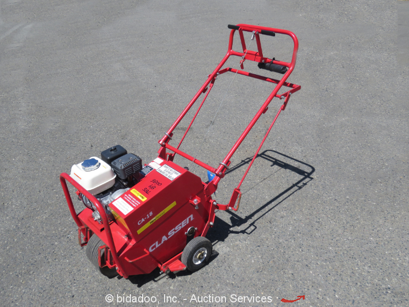 2012 Classen CA-18 Compact Lawn Turf Aerator Tractor Honda GX160 Gas