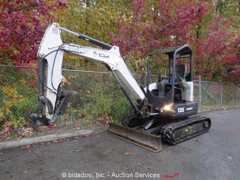 2013 Bobcat E35M Hydraulic Mini Excavator Hyd Thumb Rubber Tracks Blade bidadoo