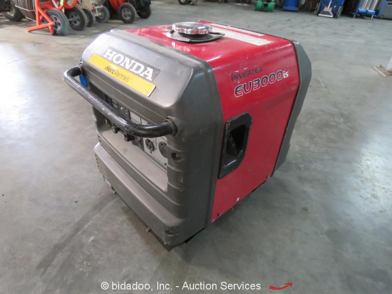Honda EU3000iS Portable 3,000 W Generator Electric Start 120V 25A GX200 bidadoo