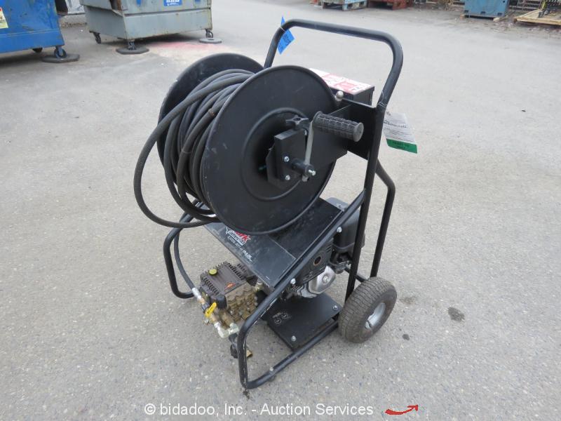 2013 Shark 3000 PSI Carted Sewer Jetter Honda GX390 Gas 4GPM Drain Snake bidadoo