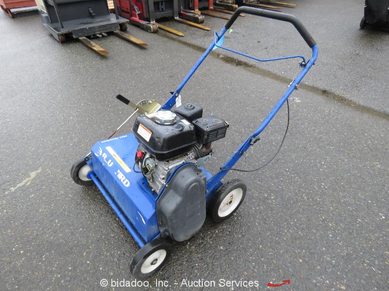 "Bluebird PR22 Walk Behind 22"" Gas Power Rake Dethatcher Honda GX160 bidadoo"